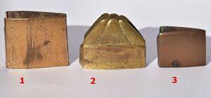 Antique Japanese HABAKI, 3x, Copper, Tsuba, fuchi, kashira