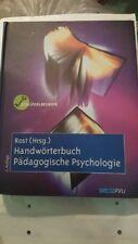 Handwörterbuch Pädagogische Psychologievon Detlef