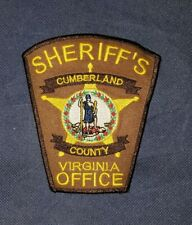 Cumberland County, Virginia, Sheriff, Patch, Police