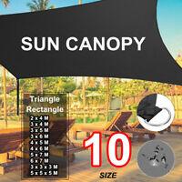 Heavy Duty Shade Sail Sun Canopy Outdoor Patio Shelter Triangle Rectangle