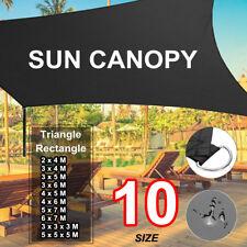 Heavy Duty Shade Sail Sun Canopy Outdoor Patio Shelter Triangle Rectangle  US