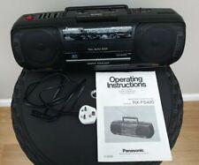 ☆Working☆ Panasonic RX-FS420 Boombox Cassette Tape Deck Radio FM Portable Stereo