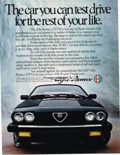 1983 Alfa Romeo GTV-6 Automobile Car Import Vtg. Print Ad