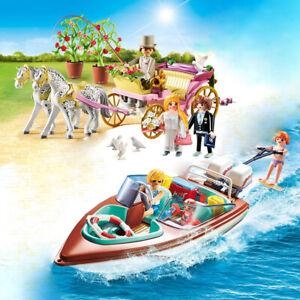 PLAYMOBIL® 9427 Hochzeitskutsche 9428 Motorboot - Ausstellungsstücke - ohne OVP