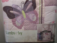 Lambs & Ivy Butterfly Bloom 6-Piece Crib Bedding Set
