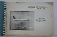 Greece 1976 OLYMPIC AIRWAYS  Boeing 737-284 Manual 100 pages