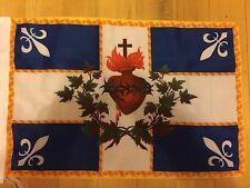 DRAPEAU Carillon Sacré Coeur bandiera flag Canada catholique roi jésus royal .