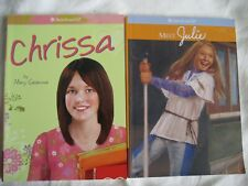2 AMERICAN GIRL PAPERBACKS Meet Julie & Chrissa NEW SCHOOL THEME