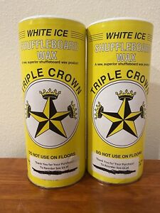TRIPLE CROWN WHITE ICE Shuffleboard Shuffle Bowl Wax, Two 1-pound Cans