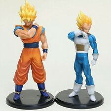 2 pcs/lot 21cm Dragon Ball Z Figurines Son Goku Super Saiyan And Vegeta No Box