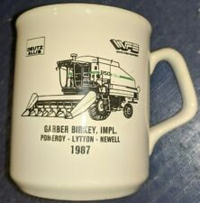 Deutz Allis White Coffee Mug R50 Gleaner Combine 1987 Pomeroy Lytton Newell, IA