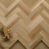 "Rare Elm Wood 12"" Parquet Classique - Select Grade - Herringbone Flooring HD14"