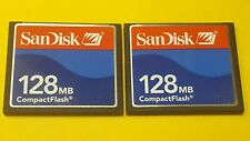 2pcs original 128mb Sandisk  Compactflash  CFI  memory card for DSLR CF cameras