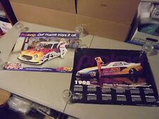 LOT OF 2 PROLONG LUBRICANTS RACING CARS AND PRETY GIRL POSTERS,1998,NHRA,STREET