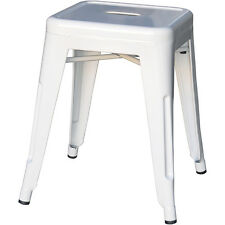 Tolix Low Stool Steel Replica Xavier Pauchard Metal White - Melbourne VIC