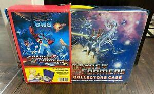 VINTAGE Transformers Collectors Case 1985 with CARDBOARD SLEEVE Hasbro Bradley