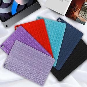 Pop Fidget Toys Push It Bubble Case Cover For iPad 5 6 7 8 Gen Air 2 3 Mini Pro