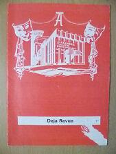 Alexandra Theatre Programme 1974- Sheila Hancock in DEJA REVUE