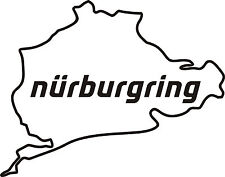 3 X NURBURGRING Pista De Carreras Circuito Auto Moto Pegatina Etiqueta de vinilo 10cm x8cm