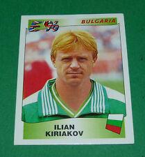 N°144 ILIAN KIRIAKOV BULGARIA PANINI FOOTBALL UEFA EURO 96 EUROPE EUROPA 1996