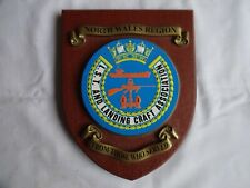 More details for vintage wooden wall plaque/shield lst & landing craft ass. n wales 18 cm x 14 cm