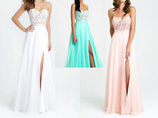 Style Wedding Chiffon Bridesmaid Dress Formal Party Prom Dresses Evening Gown