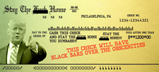 Trump 2020 STIMULUS CHECK Gag Gift STAY THE F**K HOME CENSORED VERS. - 20 CHECKS