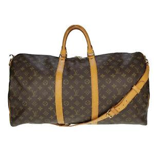 Louis Vuitton LV Monogram Bandouliere 55 M41414 Travel Bag Used 8-34-A55