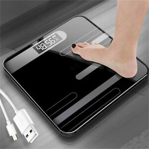 1pcs Digital LCD Glass Body Scale Electronic Weighing Scale Fat Monitor Bathroom