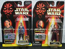 "Star Wars Phantom Menace 3.75"" Figures Padmé Naberrie & Queen Amidala"