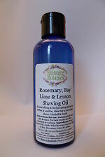 All Natural Shaving Oil with Bay, Rosemary, Lime & Lemon & Pure Jojoba