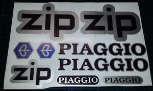 Piaggio ZIP Printed Decals / Stickers set/Kit Black Blue Silver