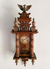 Antique 1882 German HAC Pfeilkreuz Junghans Regulator Wall Clock Eagle Finial