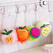 Fruit Scrubber Bath Shower Mesh Sponge Exfoliating Body Brush Wash Nylon Puff N7