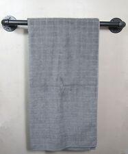 Industrial Retro Urban Rustic Iron Pipe Wall Mounted Towel Rack Rail Holder