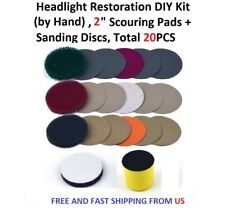 2 inch Headlight Restoration DIY Kit (by Hand), Total 20PCS