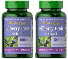 360 Softgel Bilberry Fruit 4:1 Extract 1000 mg Natural Vision Eye Health Capsule