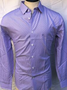 Express Dotted Striped Shirt Men's - Slim Fit - Purple- Sm/Med/Lg/XL - NWT $59