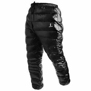 White Goose Down Pants Thermal Waterproof Down Trousers for Outdoor V7Z1