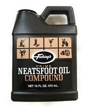 FIEBING'S Neatsfoot Leather Oil Prime Compound 16oz Saddle Boots Tack Preserve