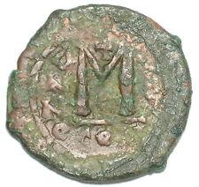 BYZANTINE BROZNE COIN FOLLIS HERACLIUS & HERCULIS 30 mm