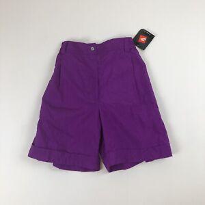 Womens Deadstock Vtg NIKE Purple Nylon Shorts Sz S Longer Style NWT Activewear