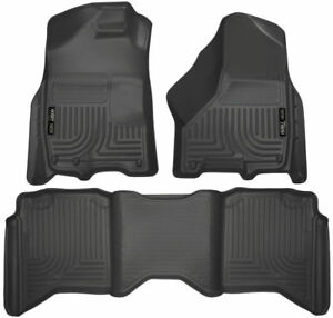 HUSKY WeatherBeater Floor Mats for DODGE RAM 1500 2500 3500 CREW CAB Liner 99001