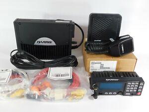 Harris M7300 XG-75M 700/800MHz Mobile Radio P25 Trunking MAMW-SDMXX Complete Set