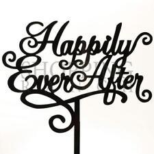Wedding Cake Topper Script Writing Black Acrylic Decoration