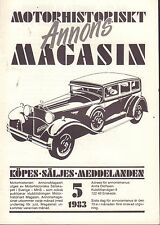 Motorhistoriskt Magasin Annons Swedish Car Magazine 5 1983 Buick 032717nonDBE
