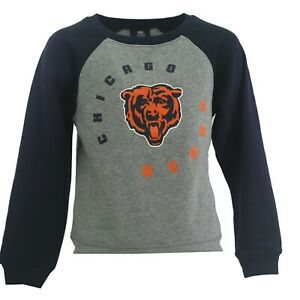 Chicago Bears Official NFL Apparel Kids Youth Girls Light Size Sweatshirt New