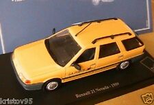 RENAULT 21 NEVADA BREAK 1989 POSTE NOREV JAUNE 1/43 NEW VITREE EDITIONS ATLAS