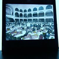 "Military hospital ""be strong"" in large concert hall Magic Lantern glass slide"