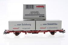 H0 Märklin 47700 container Carrello Hellmann carri merci Boxcar ovp/g37